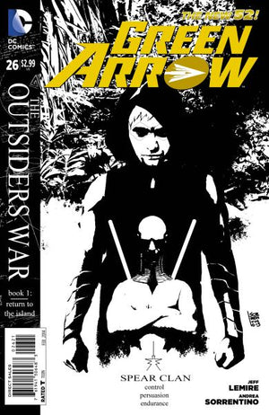 Green Arrow (The New 52) #26 Black & White Variant