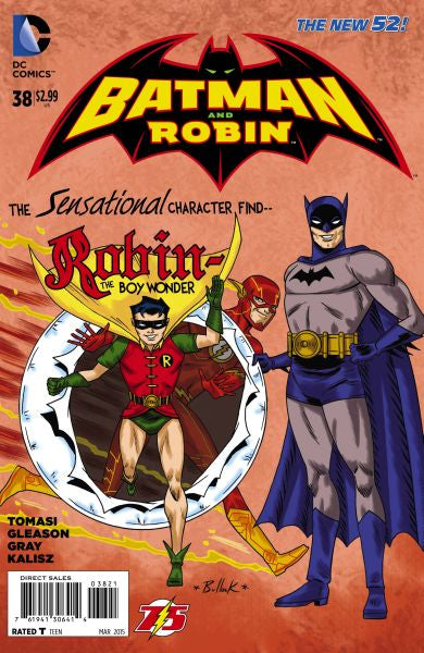 Batman and Robin (The New 52) #38 The Flash 75th Anniversary Variant