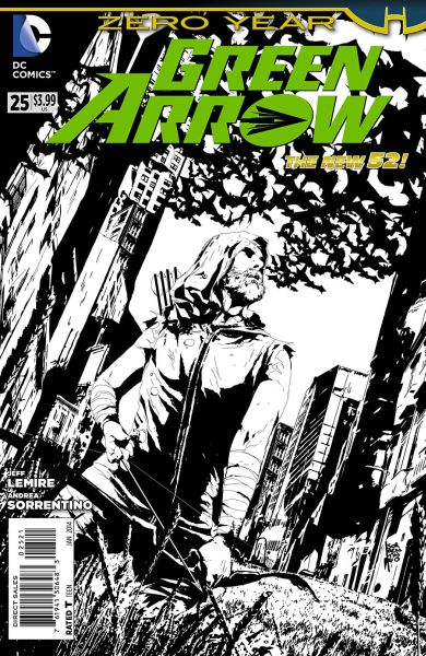 Green Arrow (The New 52) #25 Black & White Variant
