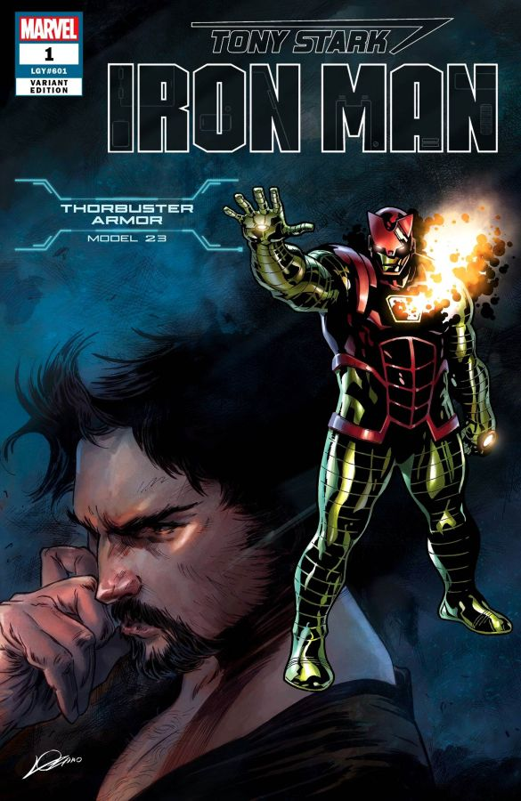 Tony Stark: Iron Man (2018) #01 Thorbuster Armor Model 23 Cover