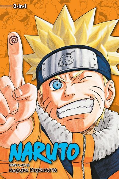 Naruto 3-in-1 Ed Volume 08