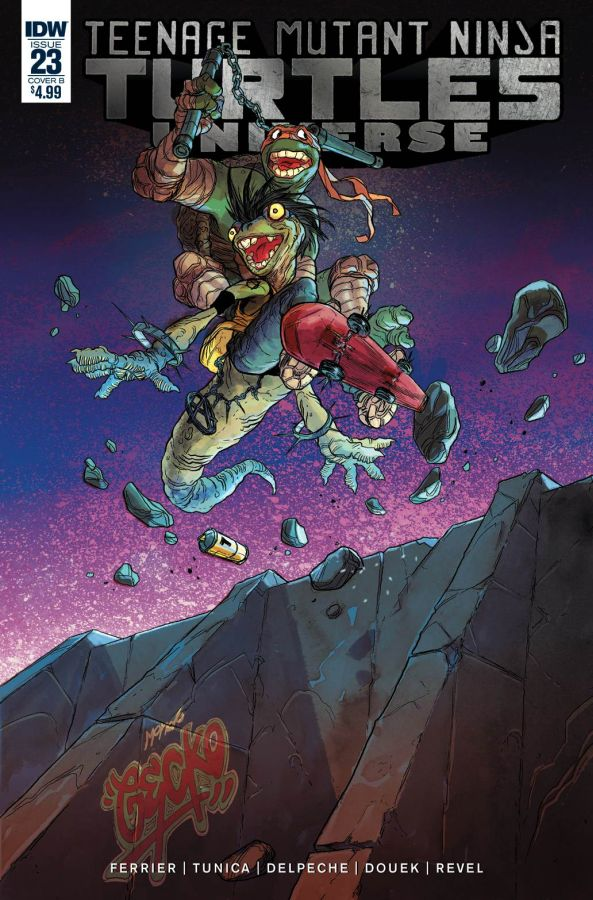 Teenage Mutant Ninja Turtles Universe #23 Tunica Cover