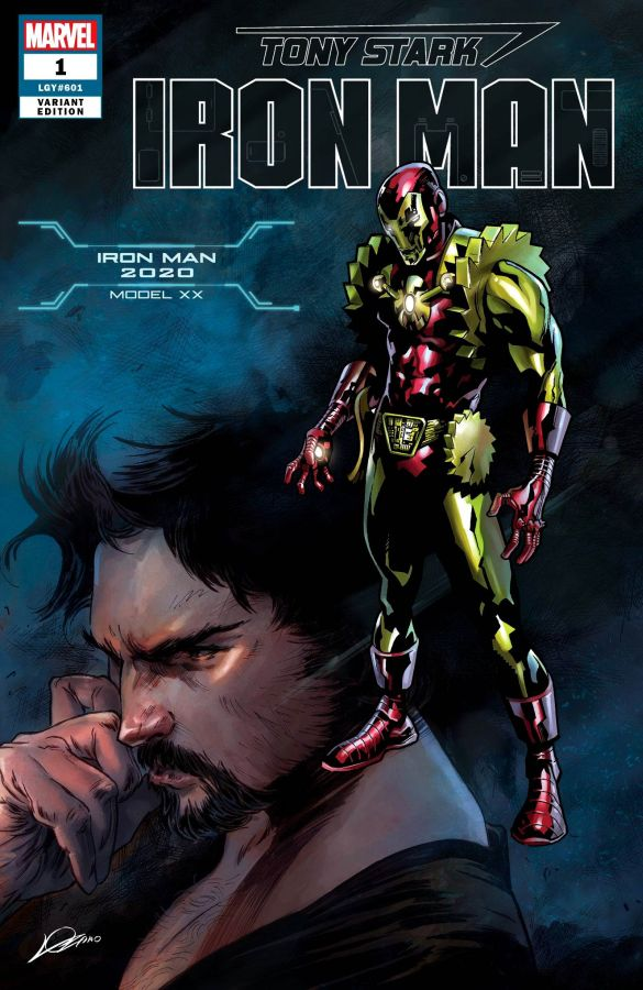 Tony Stark: Iron Man (2018) #01 Iron Man 2020 Armor Model XX Cover