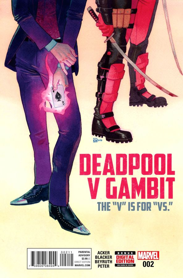 Deadpool Vs Gambit (2016) #2 (of 5) Kevin Wada Cover