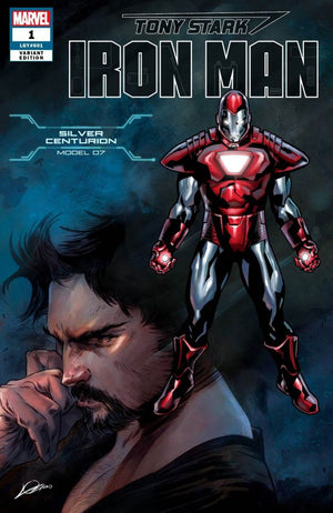 Tony Stark: Iron Man (2018) #01 Silver Centurion Model 07 Cover
