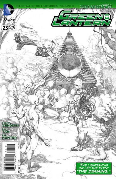 Green Lantern (The New 52) #23 Black & White Variant