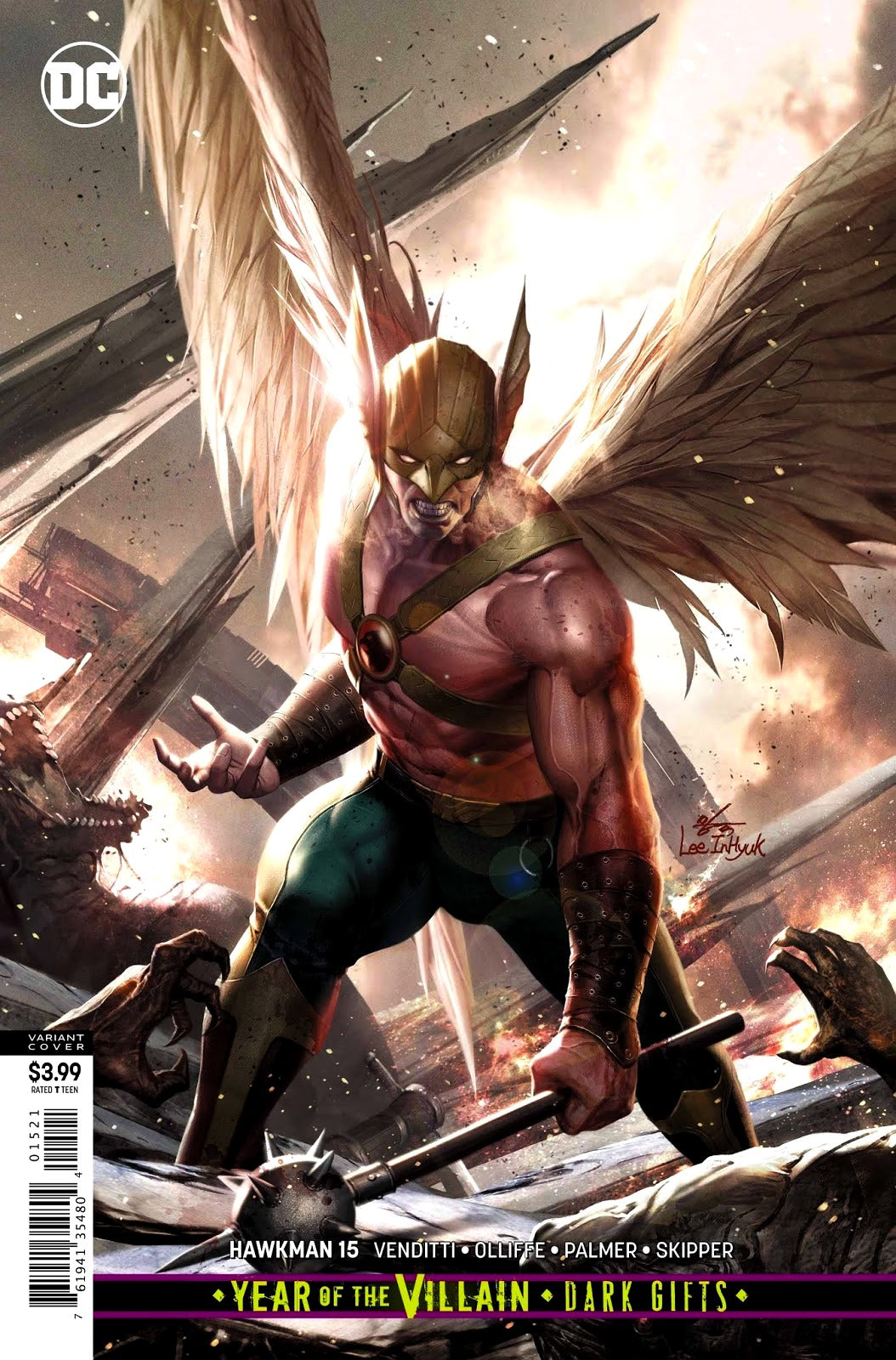 Hawkman (2018) #15 In-Hyuk Lee Cover
