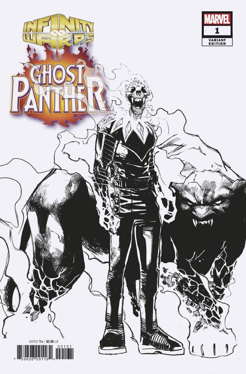 Infinity Wars: Ghost Panther #1 (of 2) Humberto Ramos Design Variant