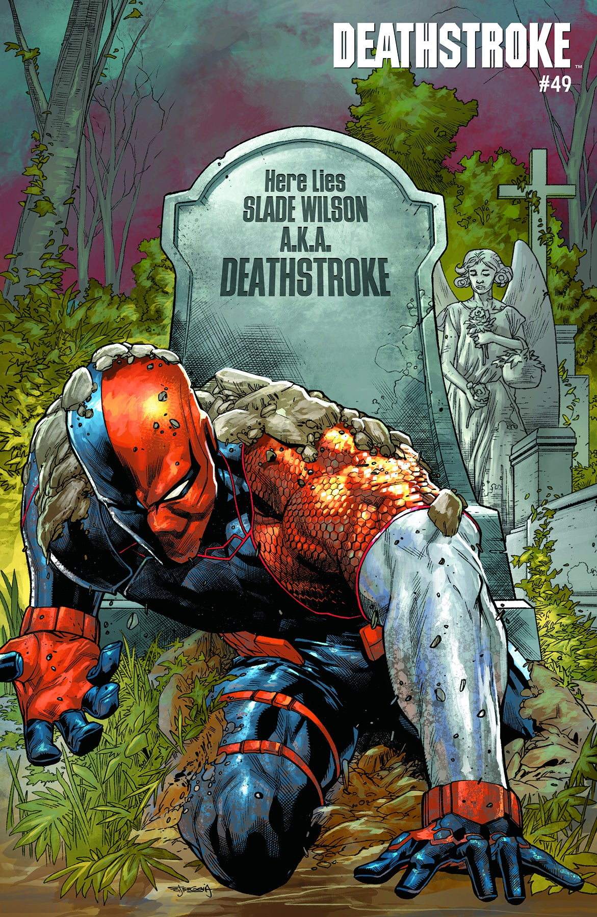 Deathstroke #49 Acetate Cover