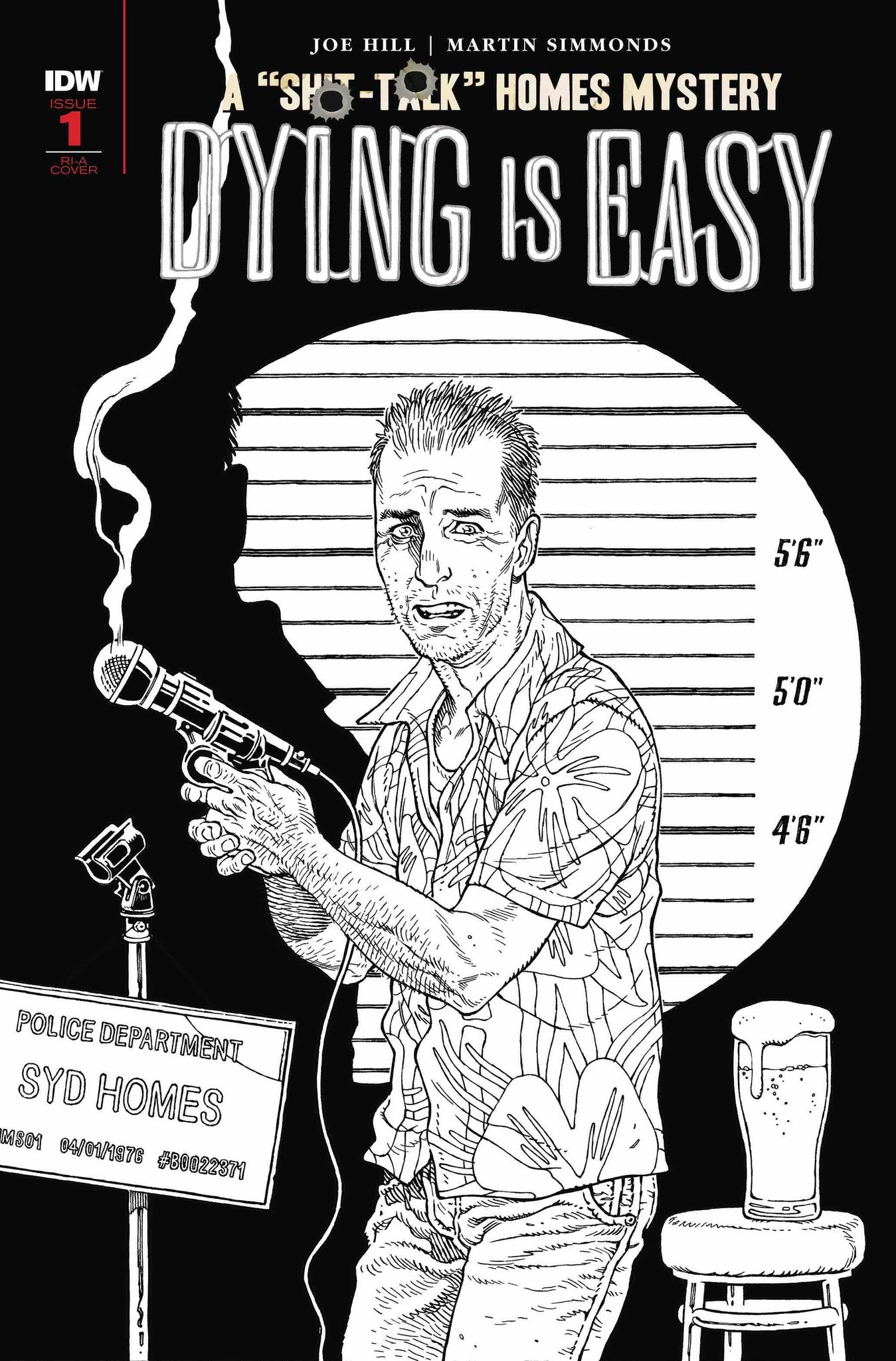 Dying Is Easy (2019) #1 (of 5) Black & White Gabriel Rodriguez Variant
