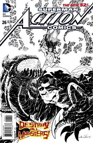 Action Comics (The New 52) #26 Black & White Variant
