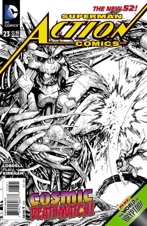 Action Comics (The New 52) #23 Black & White Variant