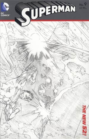 Superman (The New 52) #09 Black & White Variant