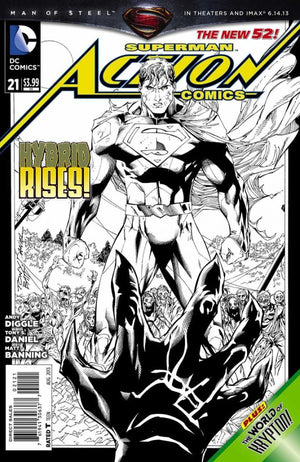 Action Comics (The New 52) #21 Black & White Variant