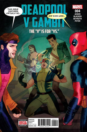 Deadpool Vs Gambit (2016) #4 (of 5) Kevin Wada Cover