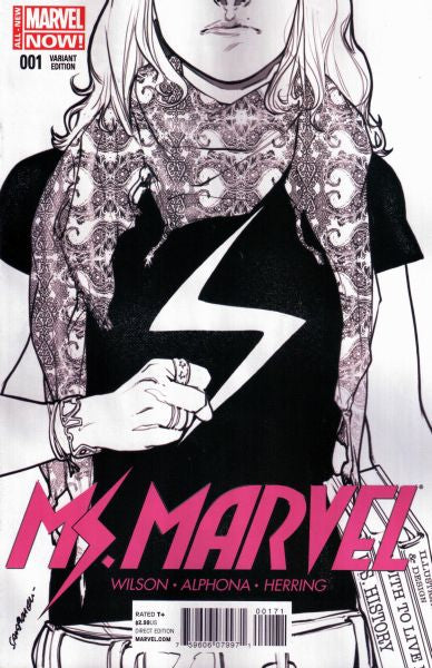 Ms Marvel (2014) #01 3rd Print Sketch Variant
