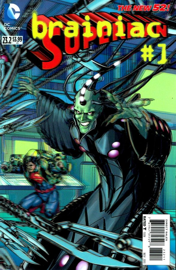 Superman (The New 52) #23.2 Brainiac 3D Cover