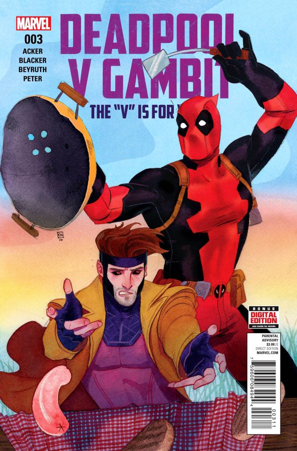 Deadpool Vs Gambit (2016) #3 (of 5) Kevin Wada Cover