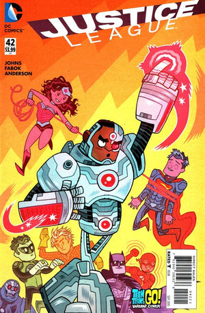 Justice League (The New 52) #42 Teen Titans Go! Cover