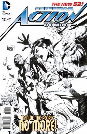 Action Comics (The New 52) #12 Black & White Variant