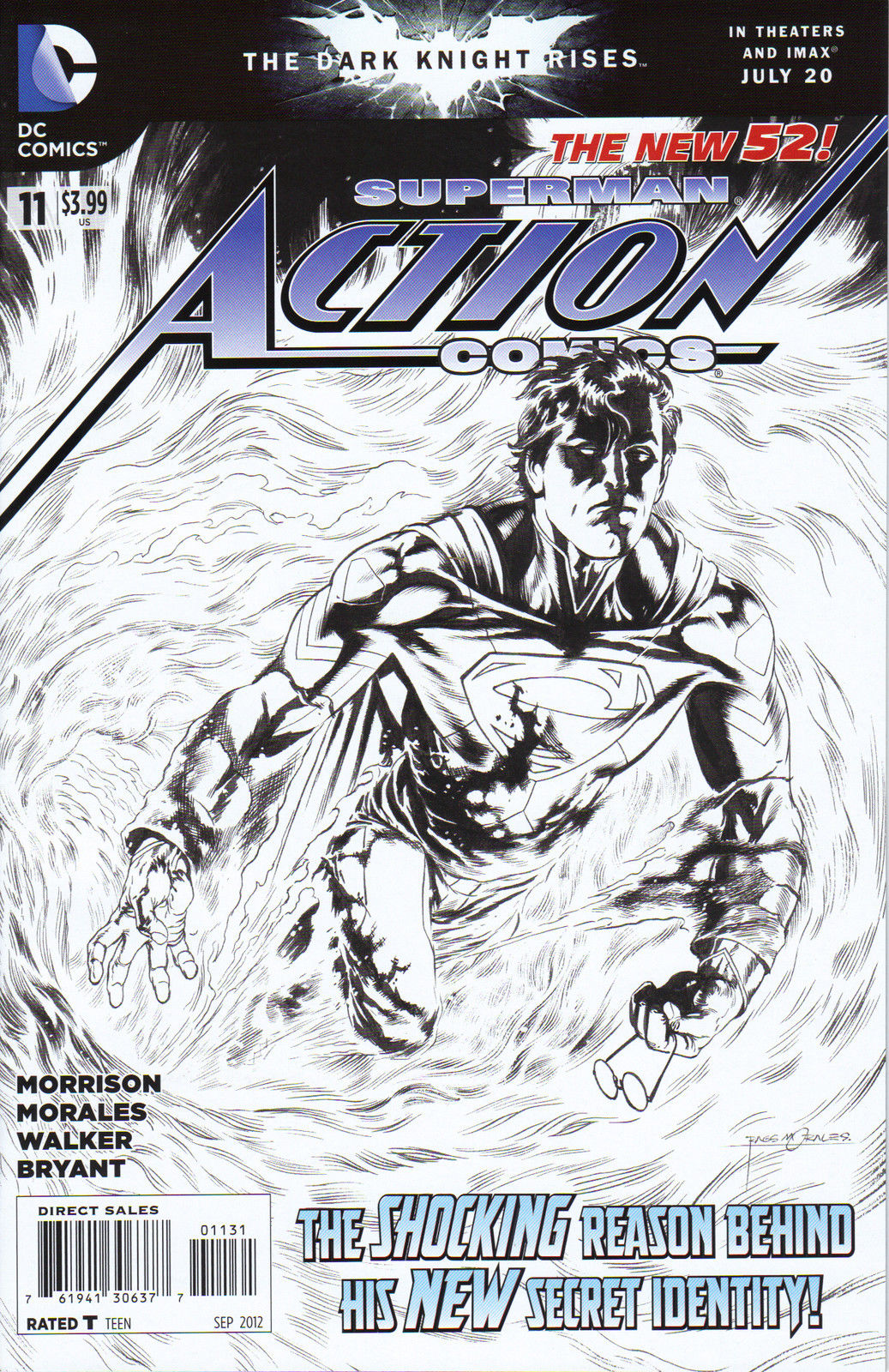 Action Comics (The New 52) #11 Black & White Variant