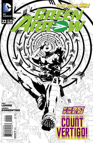 Green Arrow (The New 52) #22 Black & White Variant
