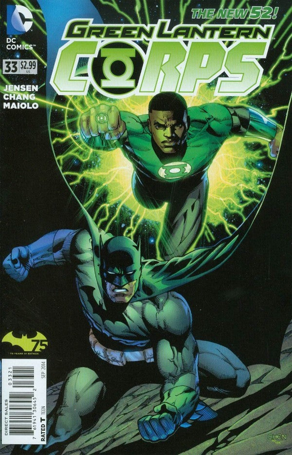 Green Lantern Corps (The New 52) #33 Batman 75th Anniversary Variant