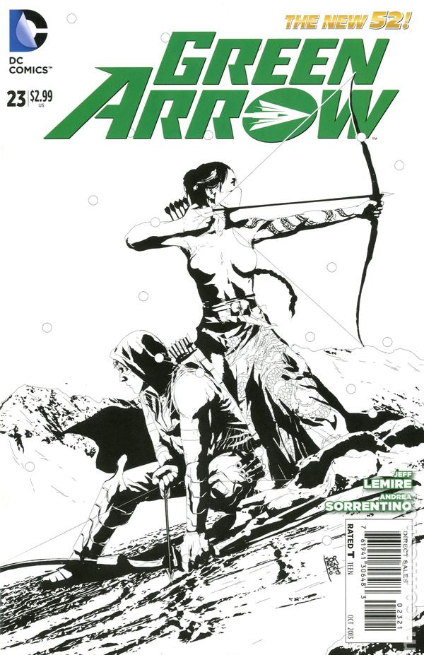 Green Arrow (The New 52) #23 Black & White Variant