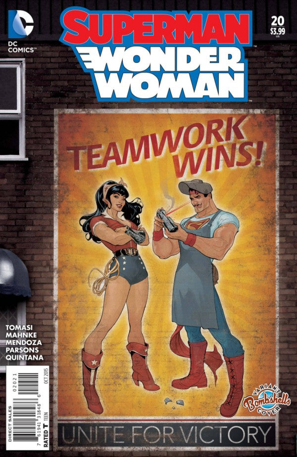 Superman / Wonder Woman (The New 52) #20 DC Bombshells Variant