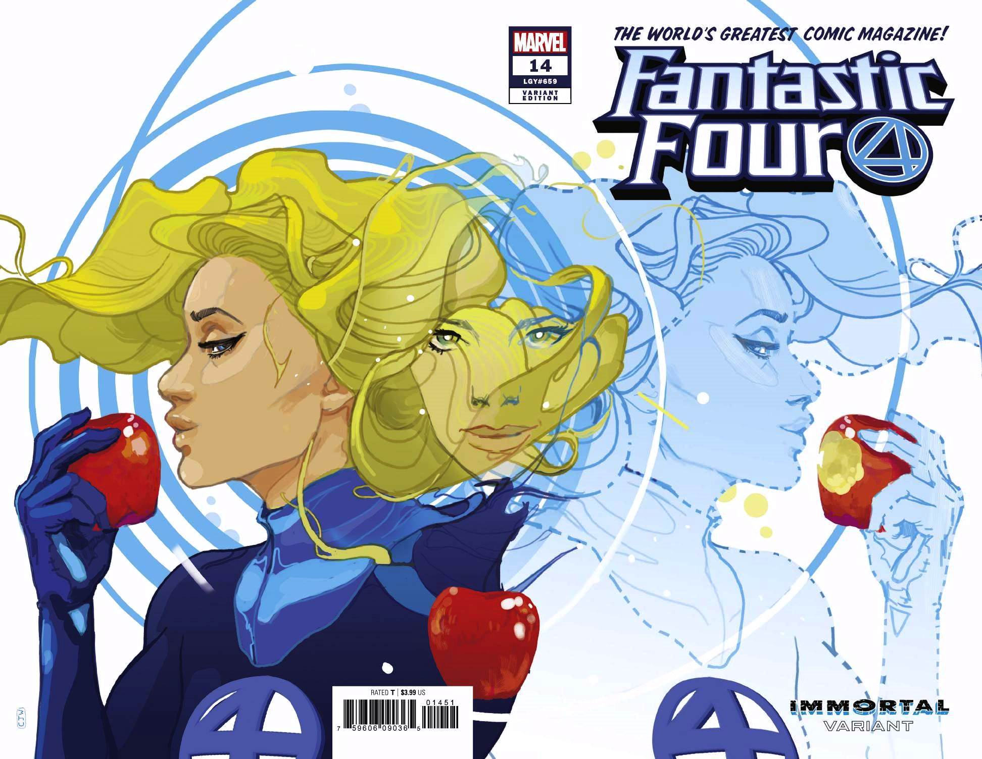 Fantastic Four (2018) #14 Christian Ward Sue Storm Immortal Wraparound Cover