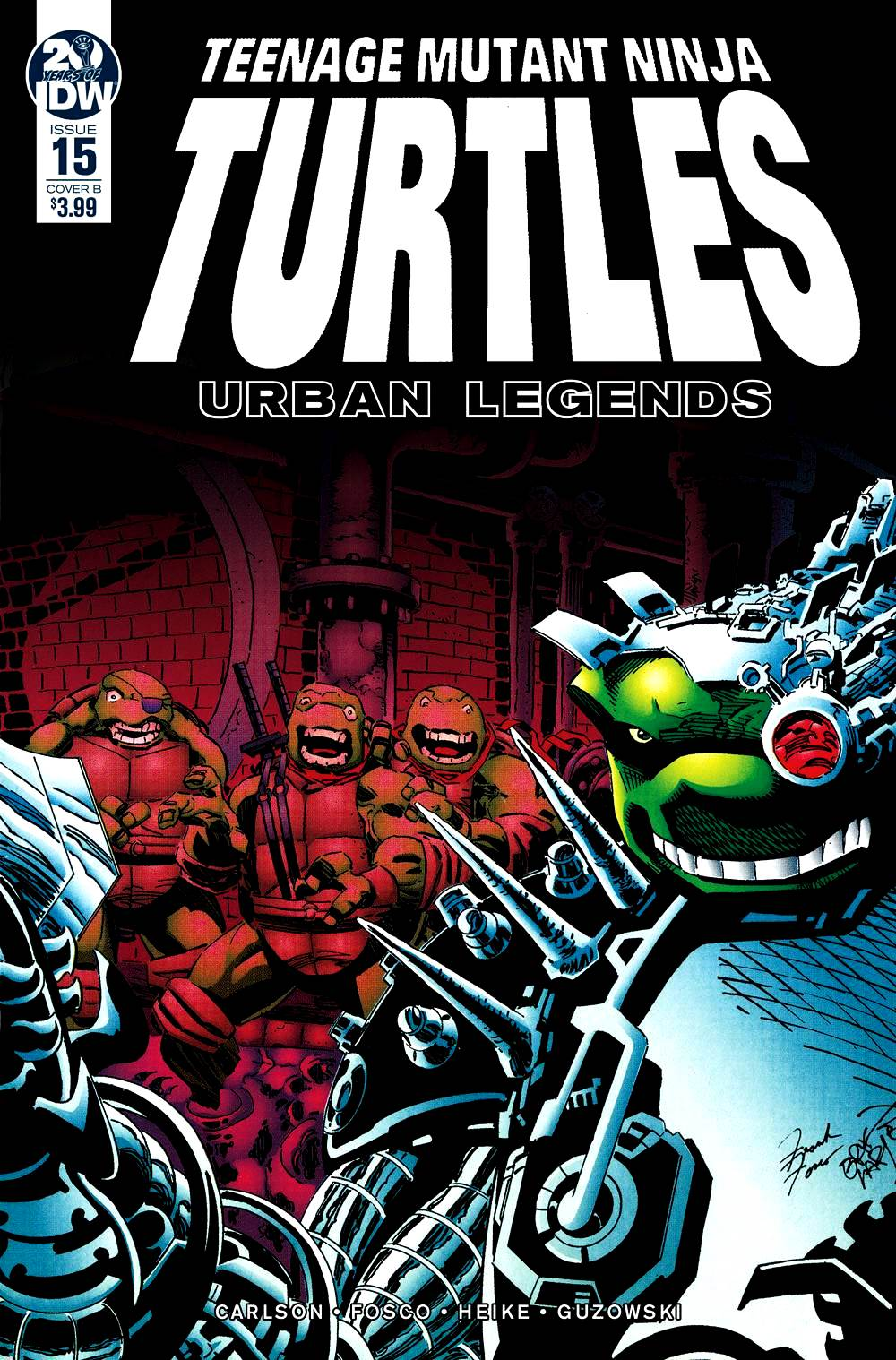 Teenage Mutant Ninja Turtles: Urban Legends #15 Frank Fosco & Erik Larsen Cover