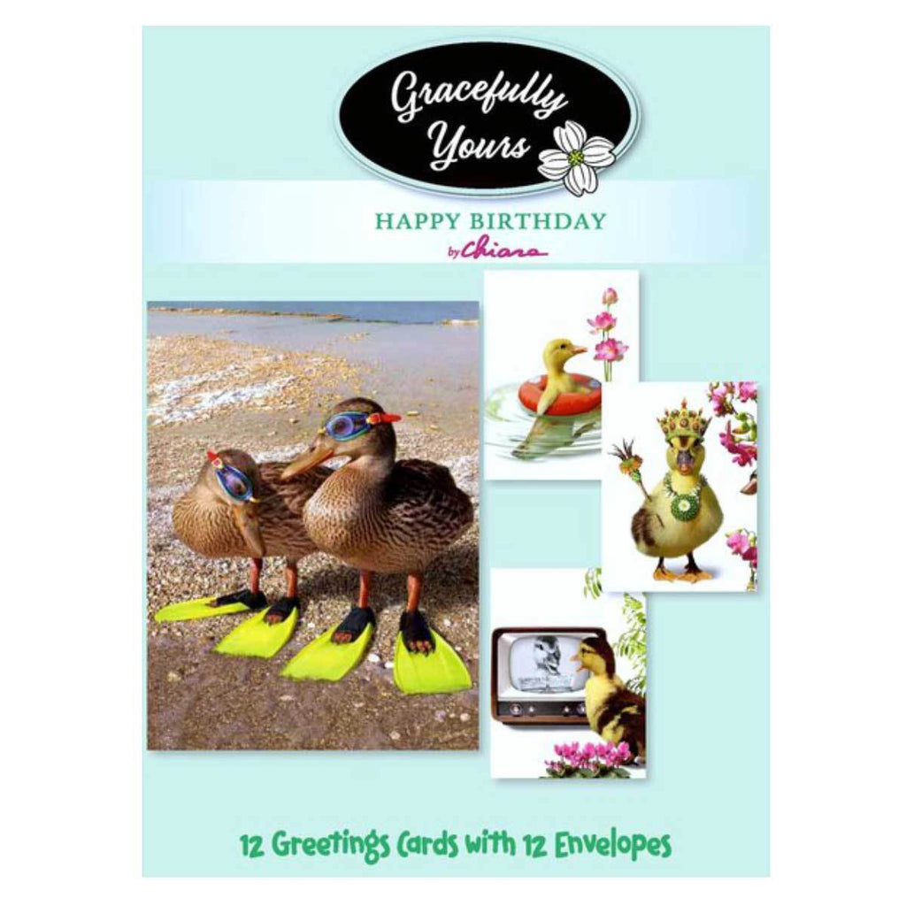 Just Ducky Birthday (12 ct) - GY-063