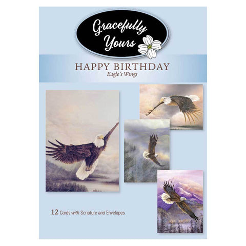 Eagles Wings Birthday (12 ct) - GY-024