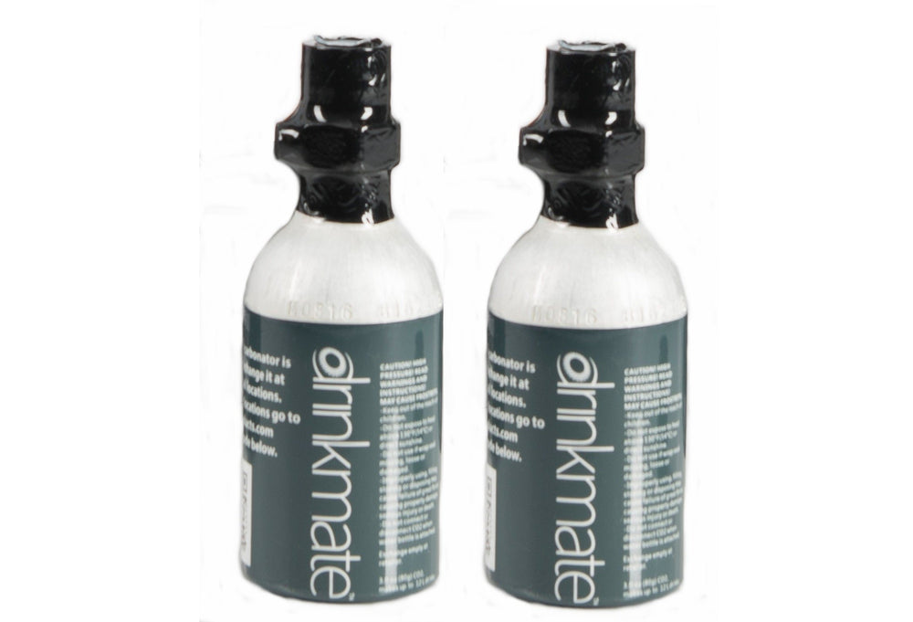 Drinkmate (3 oz) CO2 Cylinders - Twin pack