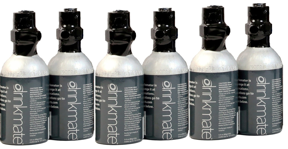 Drinkmate 10L CO2 Cylinders (3 oz) - Six pack