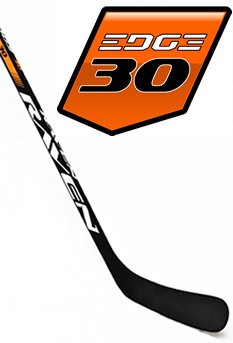 Raven Hockey EDGE 30, C88 curve, (Kane), 3K Carbon Shaft (Matte Grip), Dual-Core Blade (left) - Go-T-Hockey Ltd.