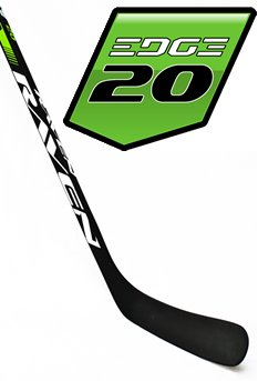 Raven Hockey EDGE 20, C19 curve (Backstrom), 3K Carbon Shaft (Matte Grip), Dual-Core Blade (left) - Go-T-Hockey Ltd.