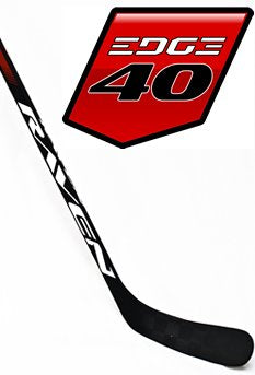 Raven Hockey EDGE 40, C19 curve (Backstrom), 3K Carbon Shaft (Matte Grip), 25X Blackmond Dual-Core Blade (left) - Go-T-Hockey Ltd.