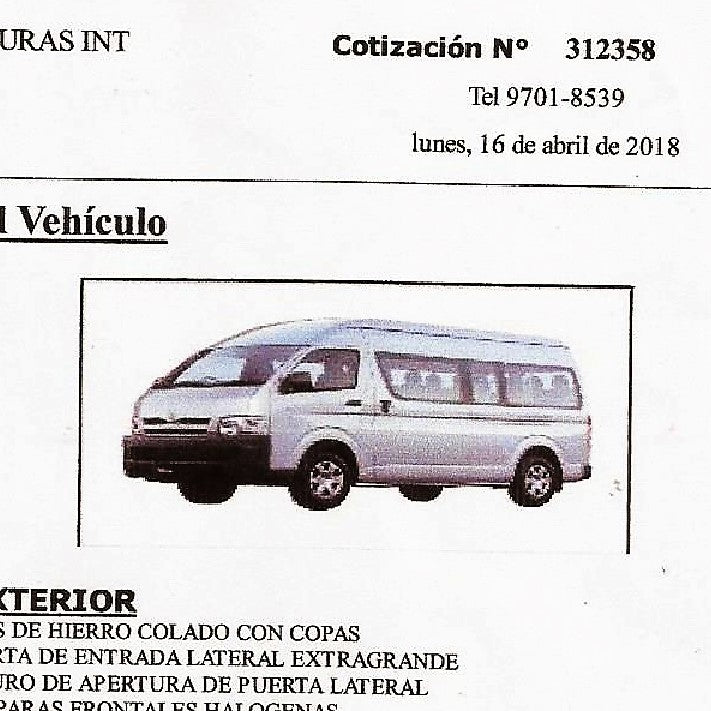 Purchase of Microbus