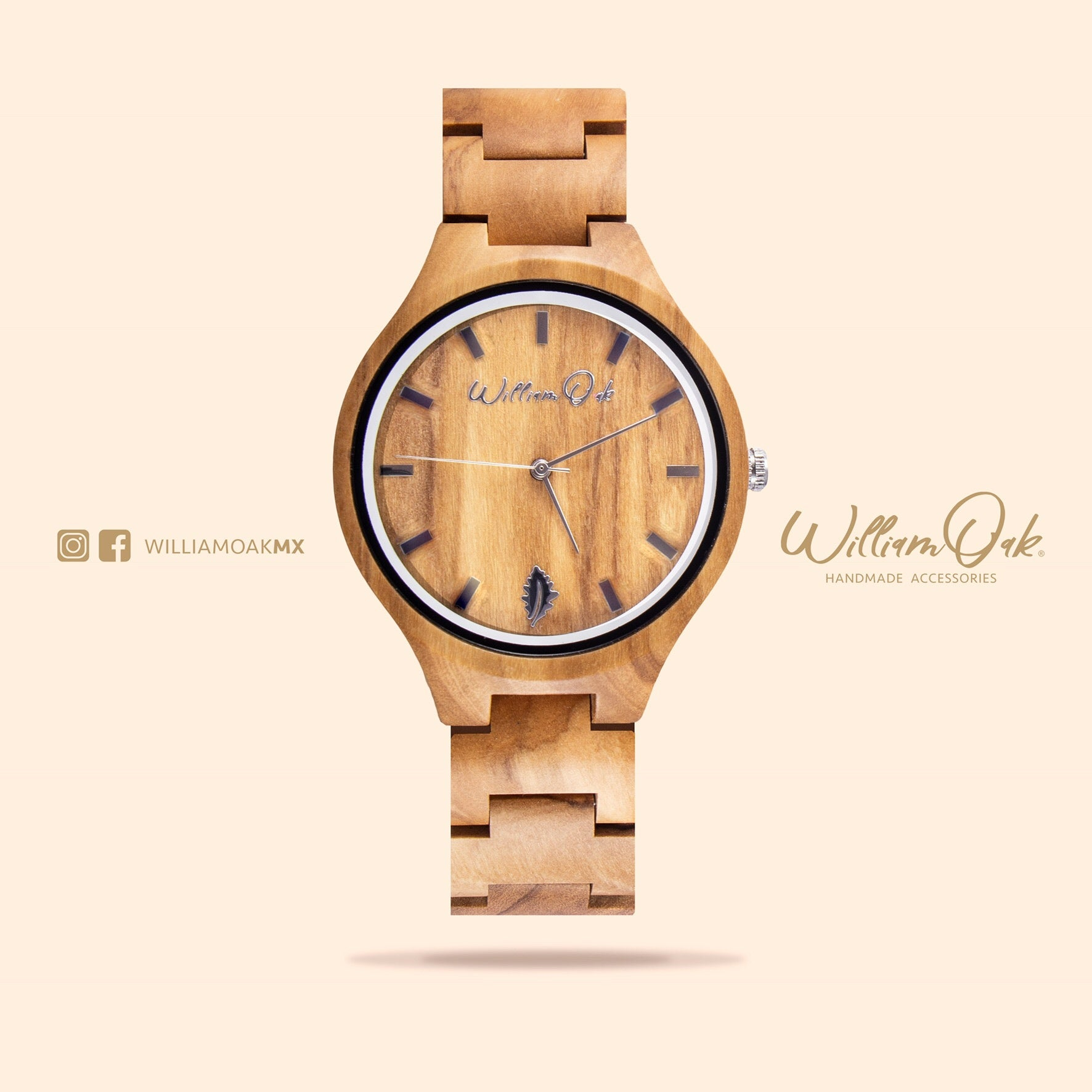 Reloj Humboldt [Olivo] - William Oak