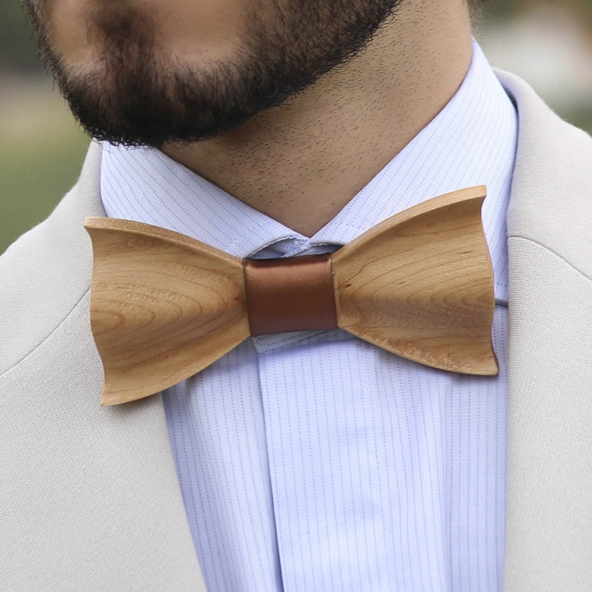 Wood Bow Tie Copper
