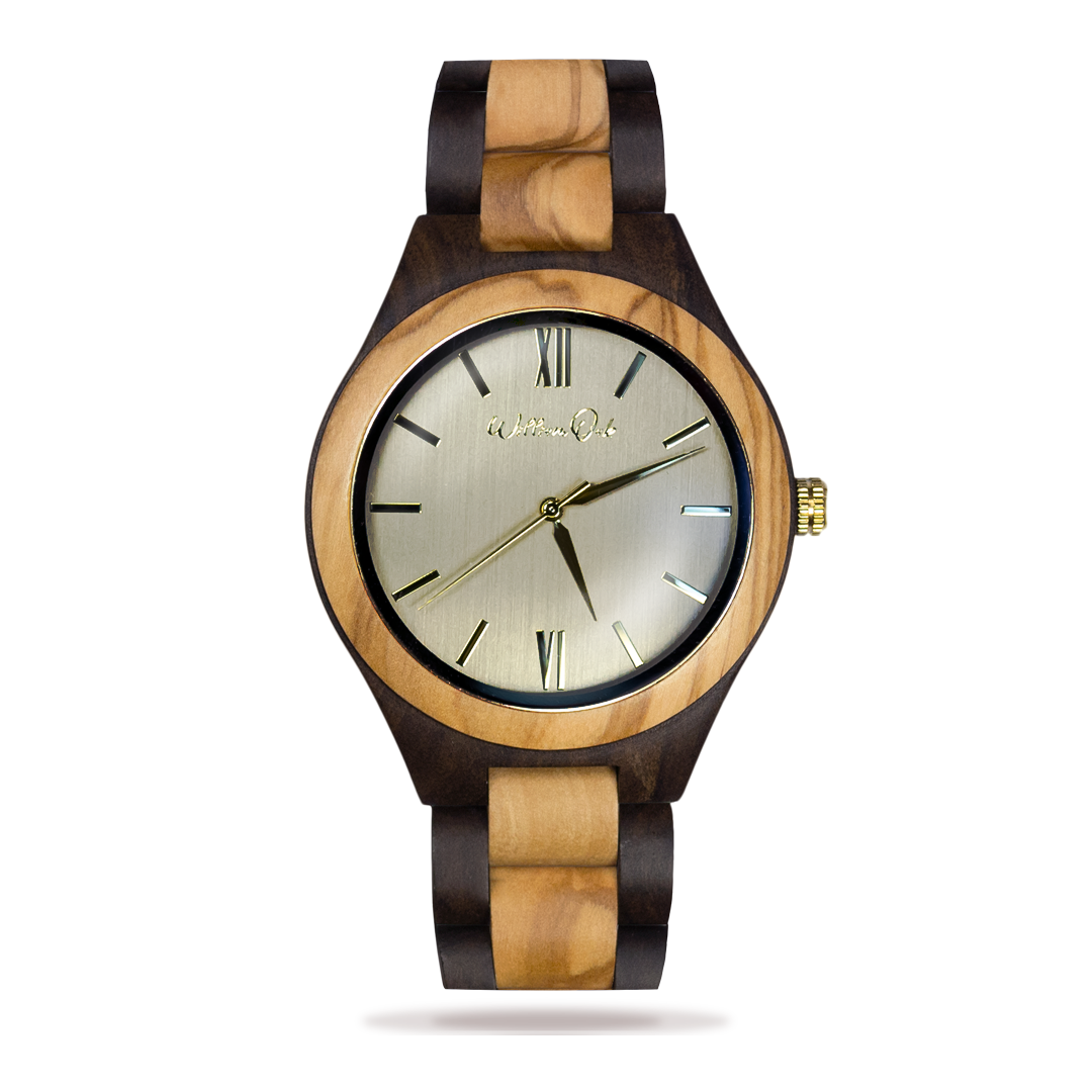 "Reloj ""Couvet"" [Sándalo y Olivo] William Oak"