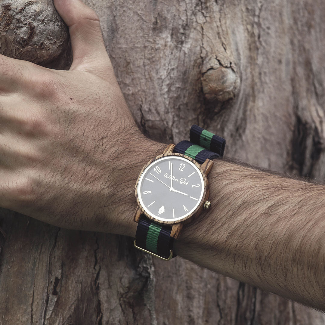 Reloj Timber [Zebrawood] William Oak