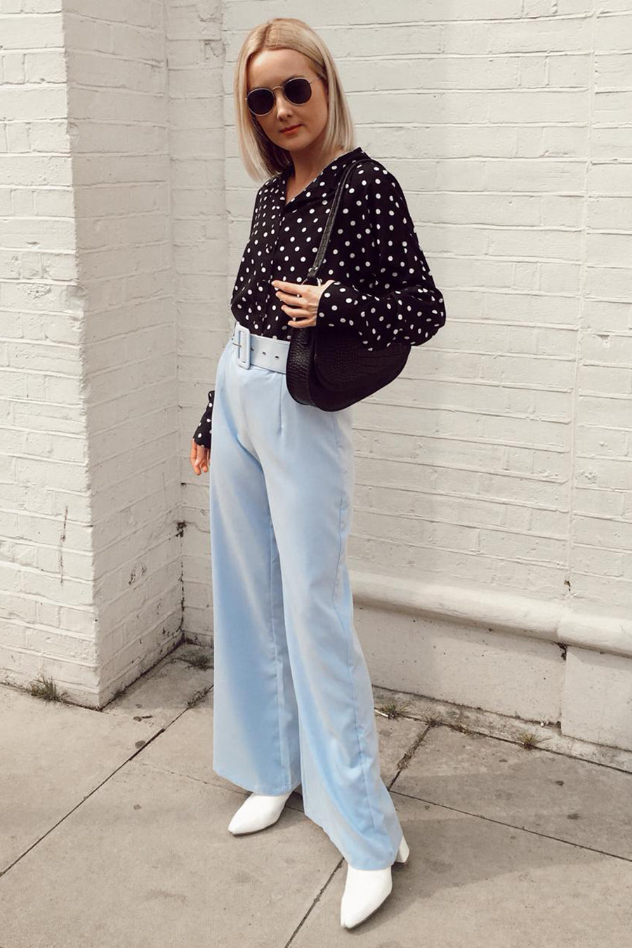 Belted Flared Trousers