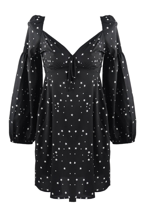 Star Print Mini Dress