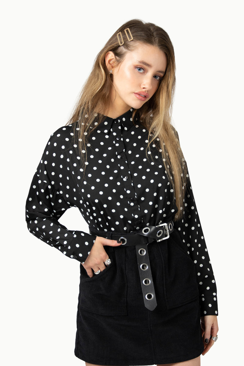 Polka Dot Button Down Shirt
