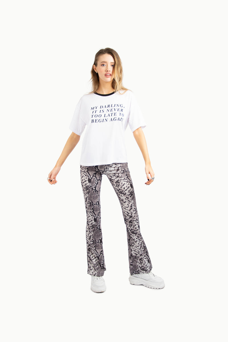 Studio Snake Print Trousers