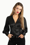 Satin Bishop Sleeves Blouse