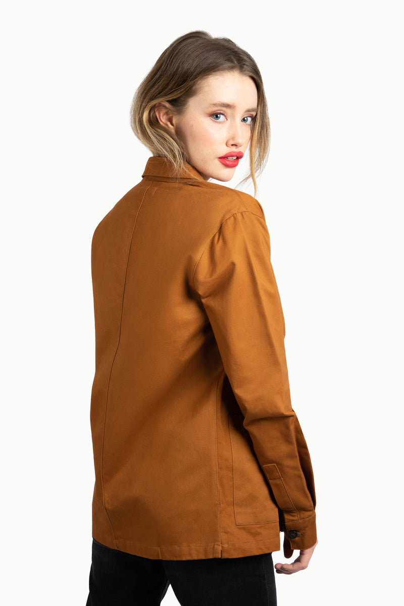 Brown Button Through Utility Shirt