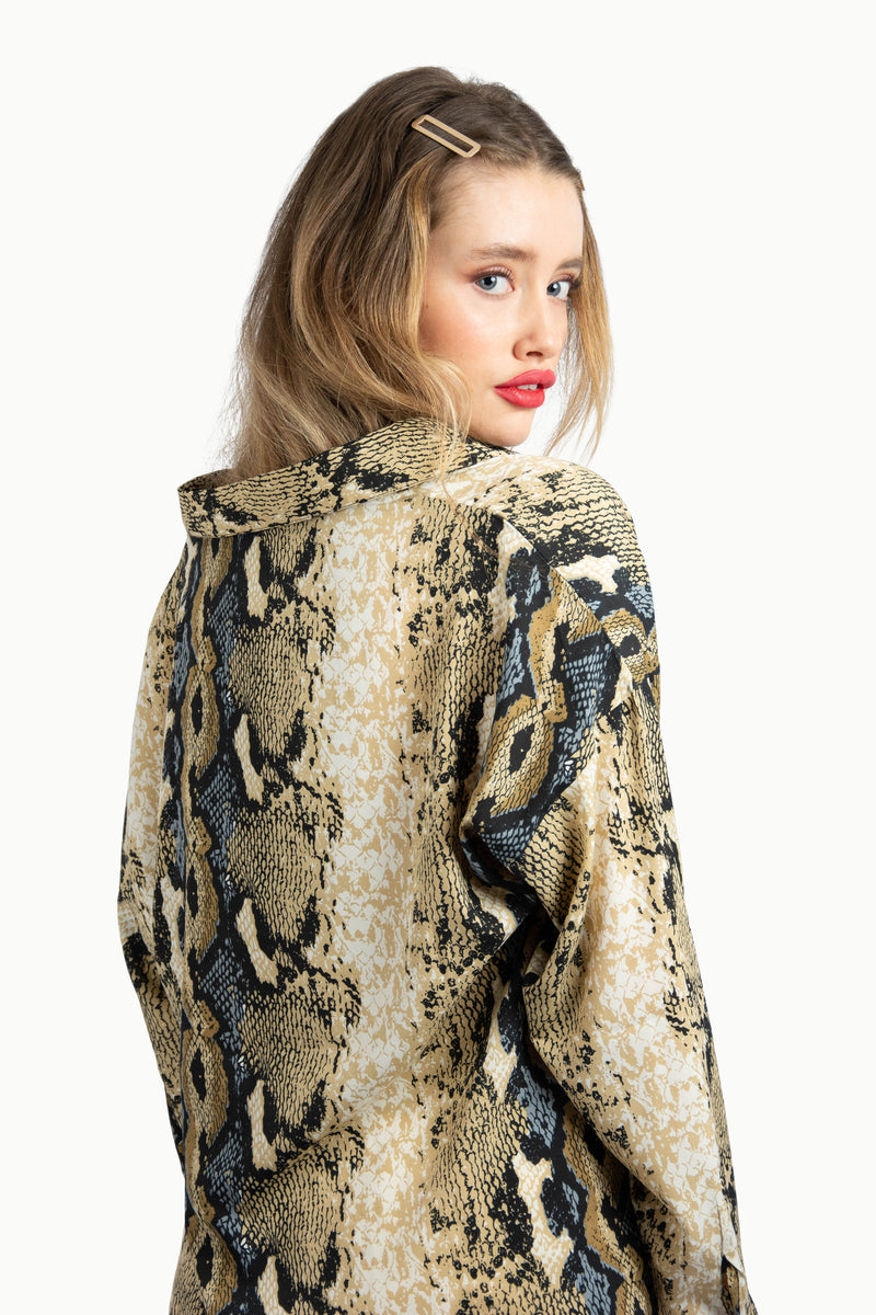 Snake Print Shirt With Long Sleeves
